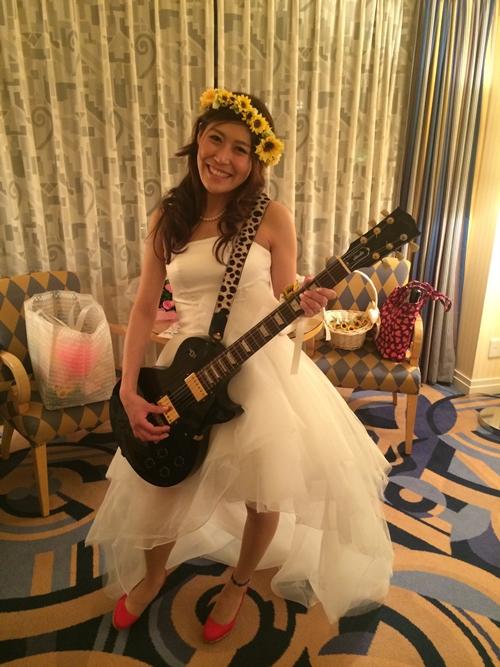 黄色いおしゃれひまわり結婚式の花冠5