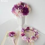【オーダー花冠】花冠、ブーケ、ブートニアのブライダルセット
