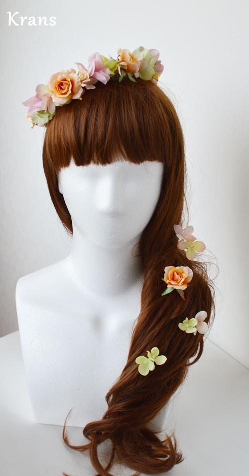 ふわふらパステルのドレスにぴったりの花冠 ラプンツェル