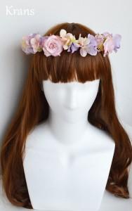 シュガーピンクローズのブライダル花かんむり モデル正面