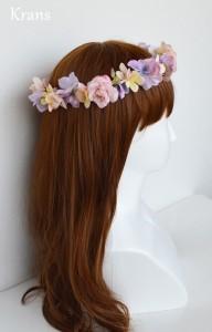 シュガーピンクローズのブライダル花かんむり モデル右