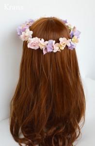シュガーピンクローズのブライダル花かんむり モデルバック