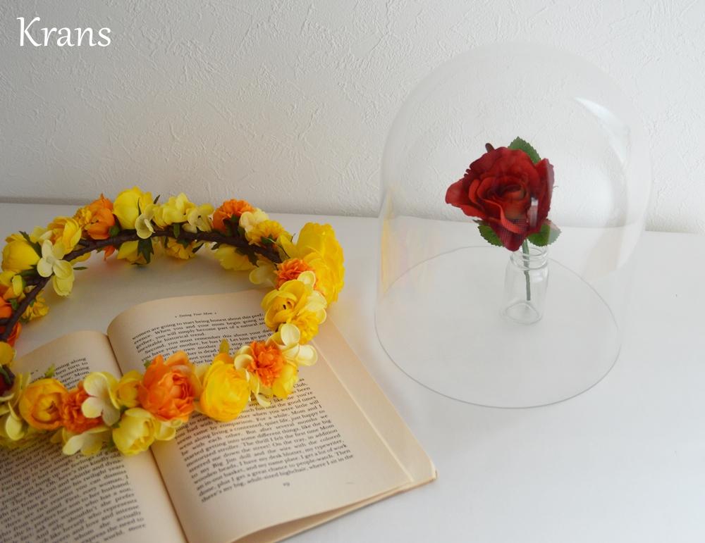 美女と野獣黄色い結婚式花冠6