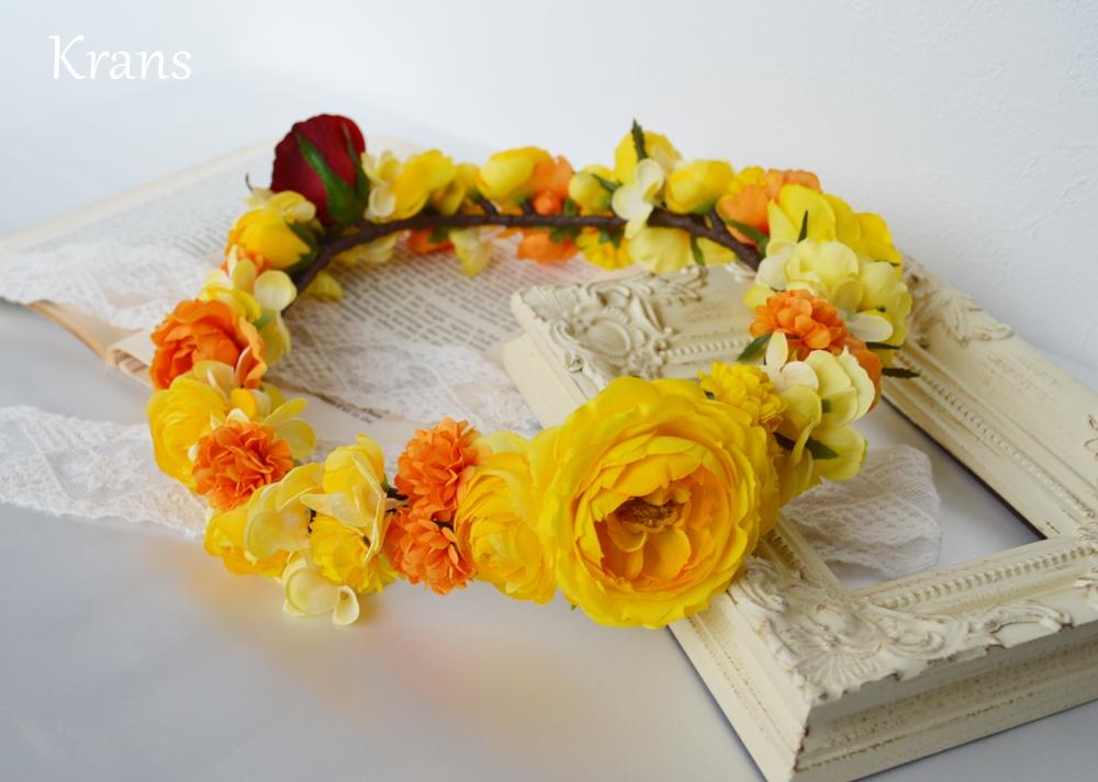 美女と野獣黄色い結婚式花冠5