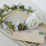 大人可愛いシックな花冠アンティーク、結婚式花冠、ウェディング花冠、