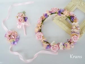 シュガーローズピンクの花冠