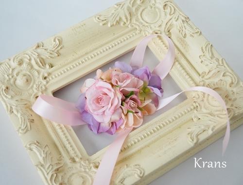 シュガーローズピンク花かんむりリストレット
