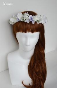 クランスホワイトのスウィートフェミニン花冠サイド