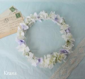 クランスホワイトのスウィートフェミニン花冠 結婚式