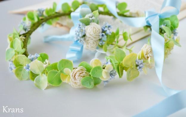 オーダー花冠W様結婚式、結婚式花冠、ウェディング花冠、