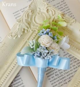 オーダー花冠W様結婚式ブートニア
