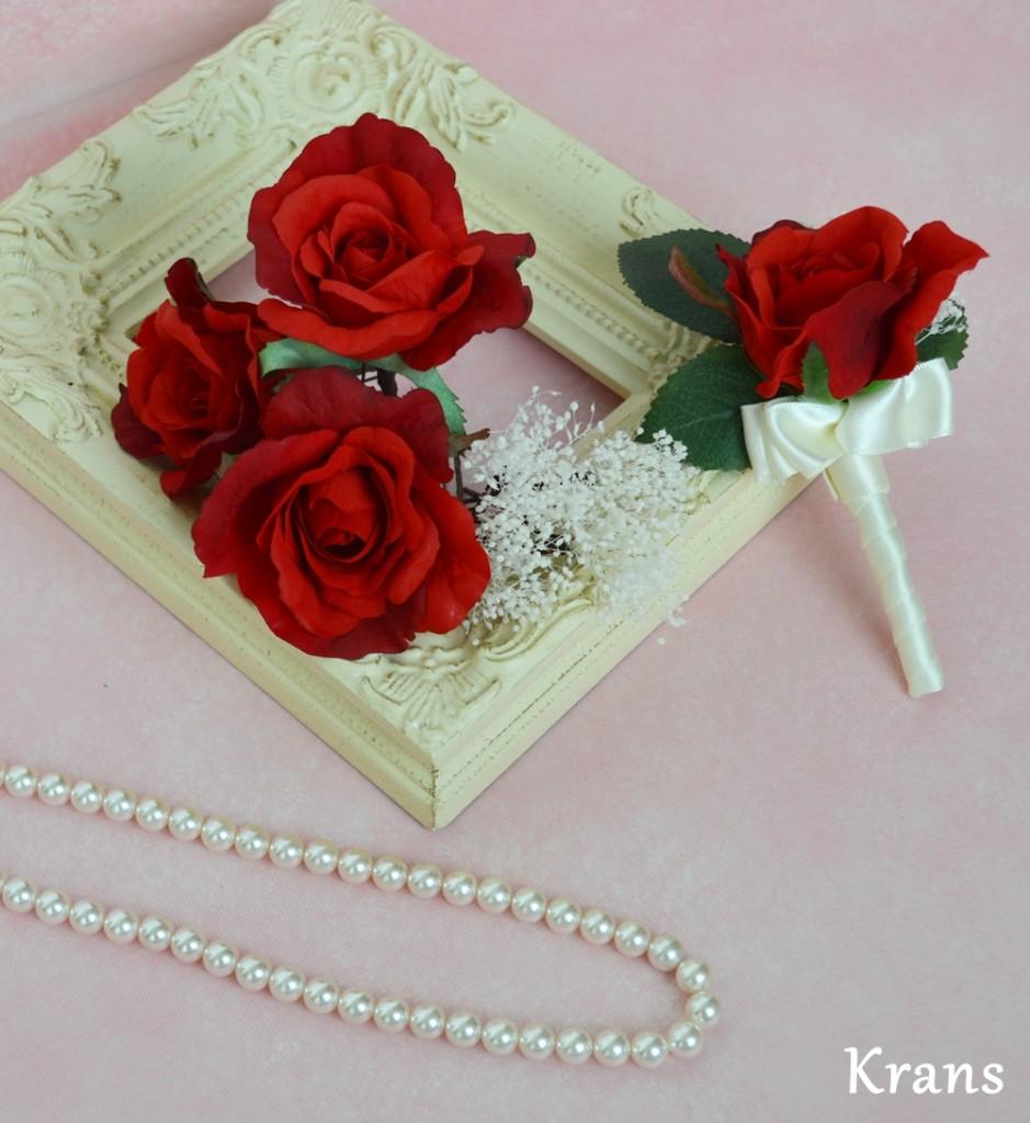 赤いバラ ヘッドパーツ