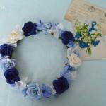 【オーダー花冠】Y様 クラシックブルーの花冠