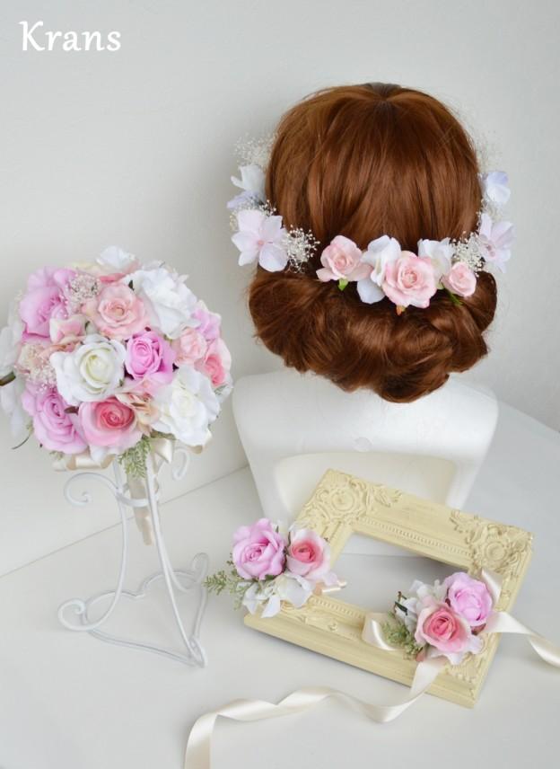 結婚式 ヘッドパーツ、結婚式花冠、ウェディング花冠、