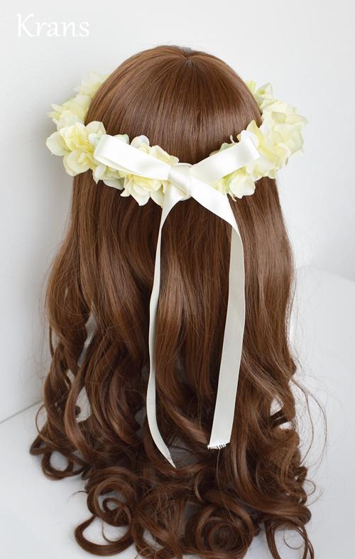 黄色いイエロー結婚式花冠7