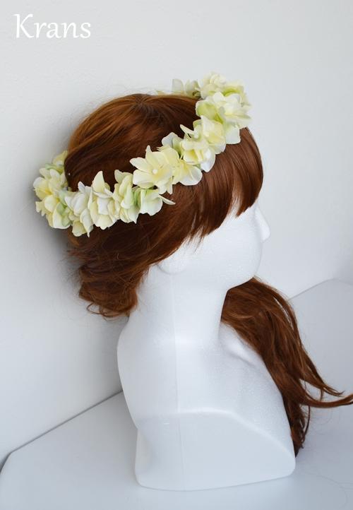 黄色いイエロー結婚式花冠8
