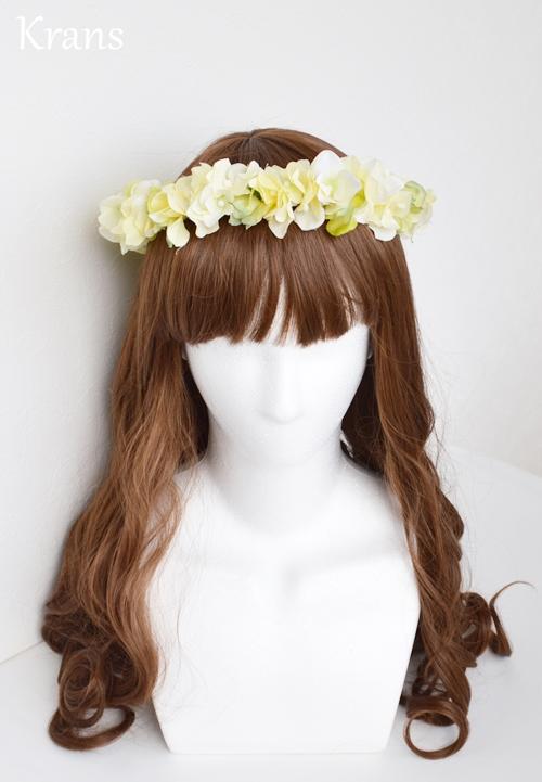 黄色いイエロー結婚式花冠3