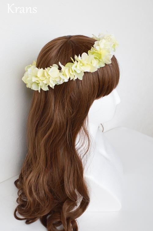 黄色いイエロー結婚式花冠4