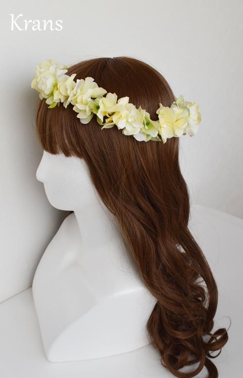 黄色いイエロー結婚式花冠5
