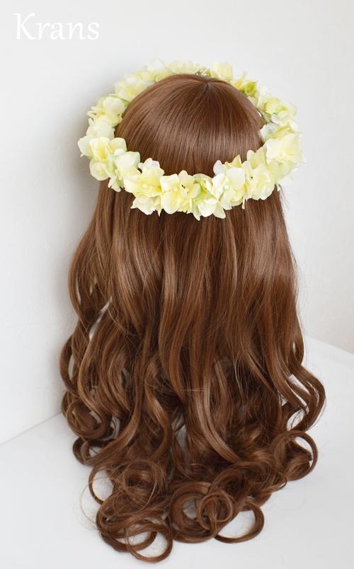 黄色いイエロー結婚式花冠6