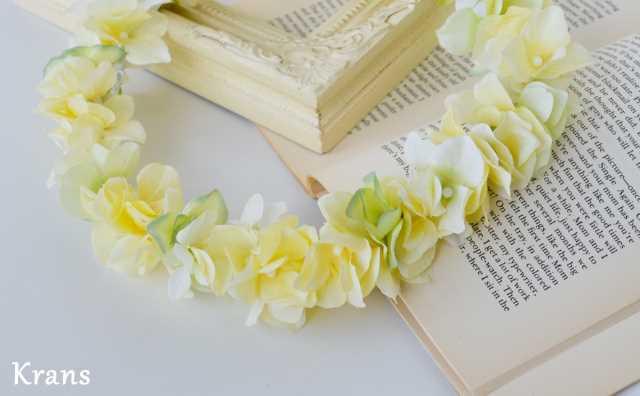 黄色いイエロー結婚式花冠2