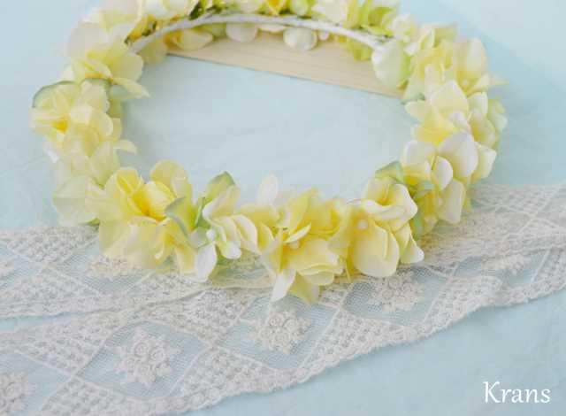 黄色いイエロー結婚式花冠11