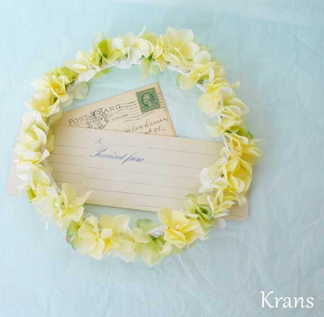 黄色いイエロー結婚式花冠10