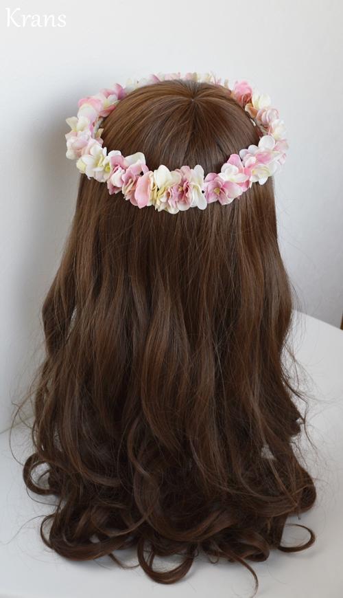 ふんわりピンクの可愛いシルエット花冠バック