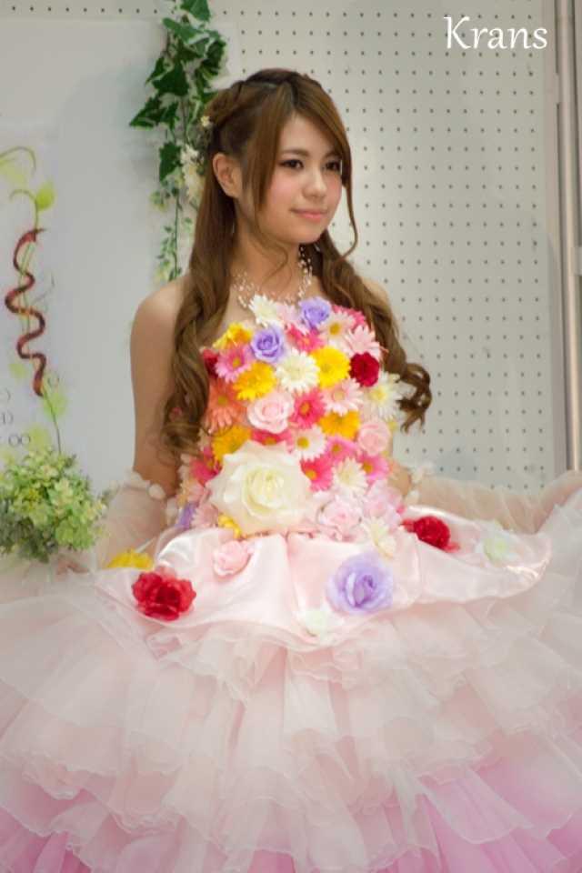カラフルウェディングドレス