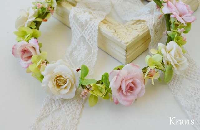ナチュラルカラー結婚式の花冠