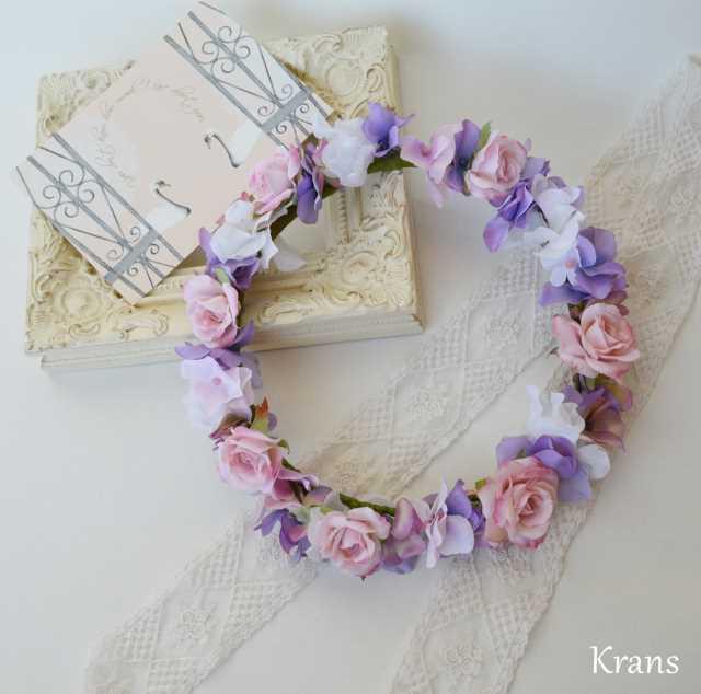 ペールピンクのウェディング花冠
