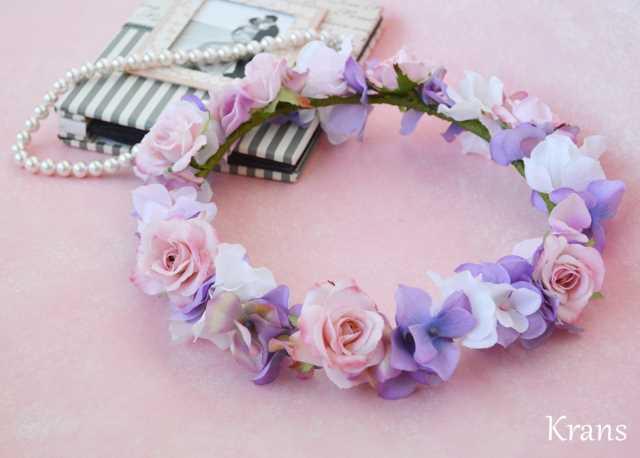 可愛い花冠ピンクウェディング
