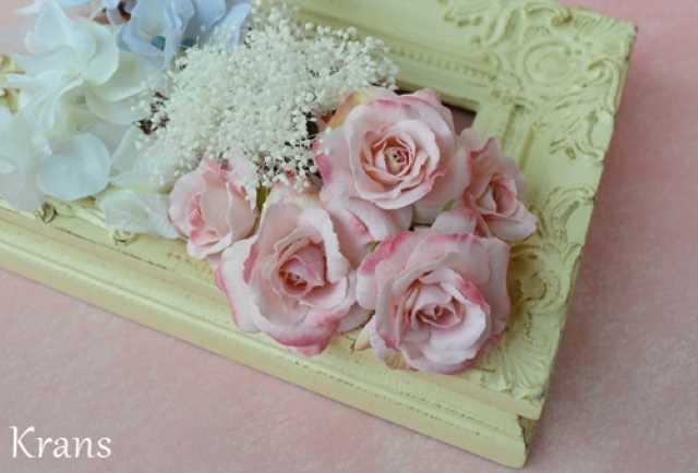 ピンクローズの髪飾り結婚式