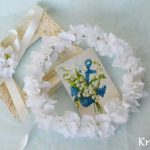 ホワイトアジサイのウェディング花冠
