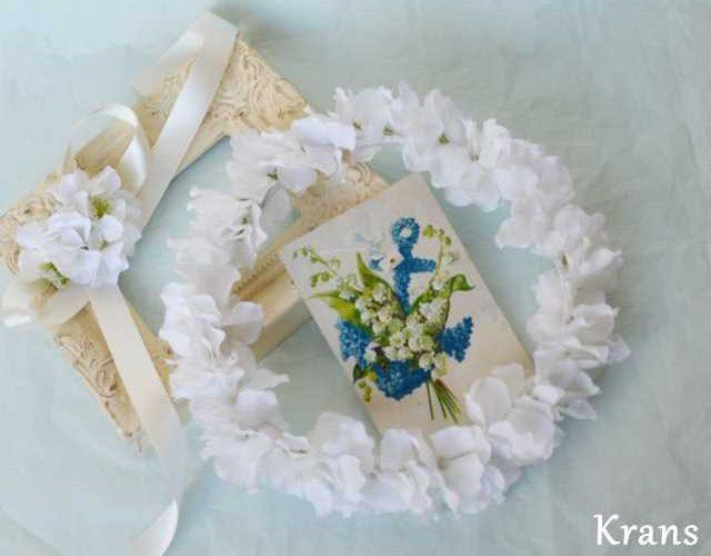 【オーダー花冠】あじさいのホワイト花冠