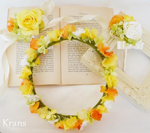 結婚式黄色花冠