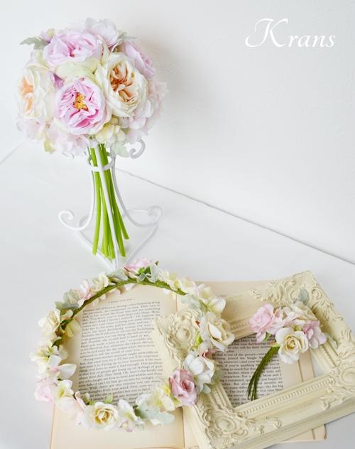 格安結婚式ナチュラル花冠セット