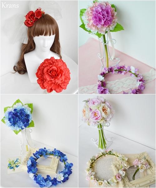 キラリナ京王吉祥寺に、「Krans」のブーケ・花冠が展示されています。