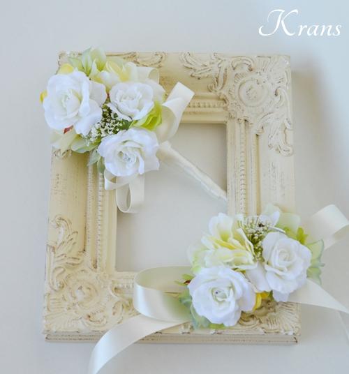 ホワイト白い結婚式花冠5