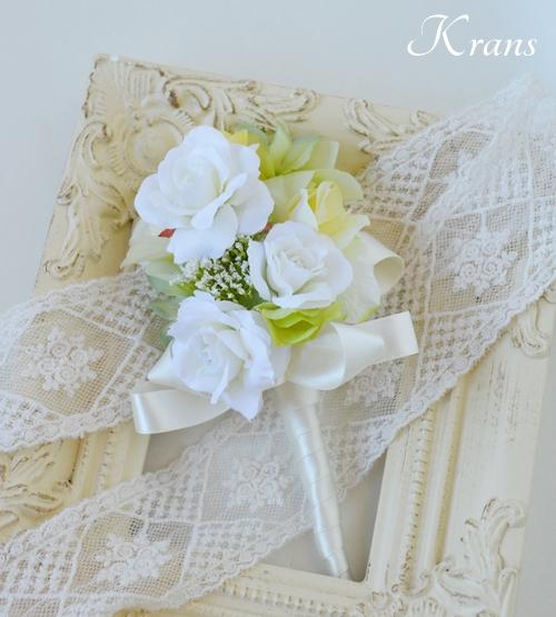 ホワイト白い結婚式花冠2