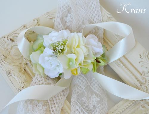 ホワイト白い結婚式花冠3
