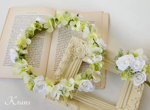ナチュラルグリーン結婚式花冠2