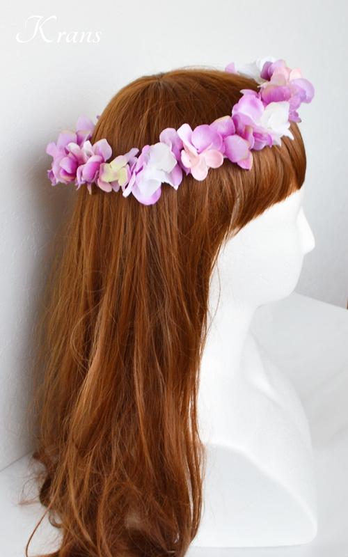 ピンクパープル結婚式花かんむり4