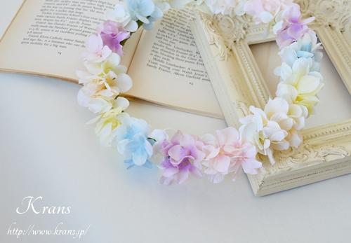 パステルカラー花冠結婚式5