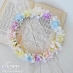 ハニードレス花冠、結婚式花冠、ウェディング花冠、