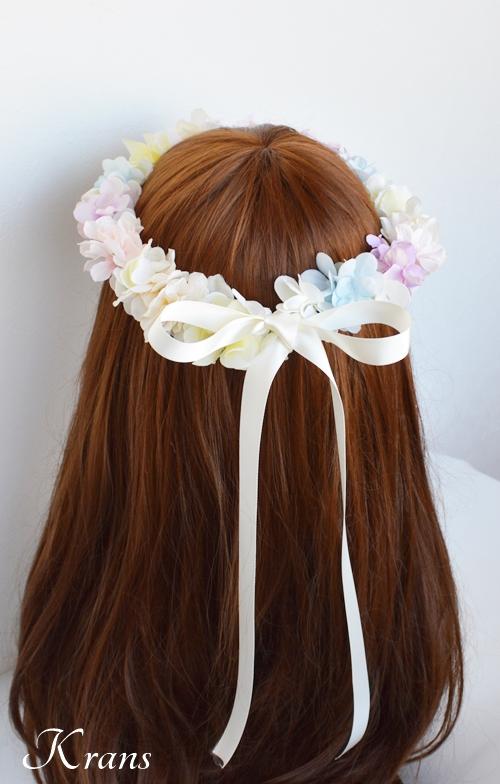 パステルカラー花冠結婚式3