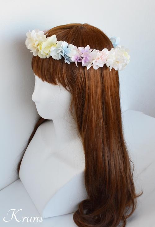 パステルカラー花冠結婚式2