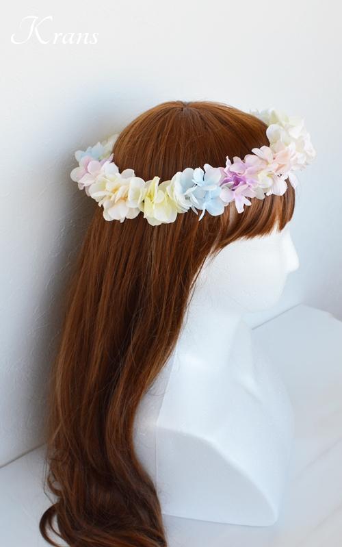 パステルカラー花かんむり