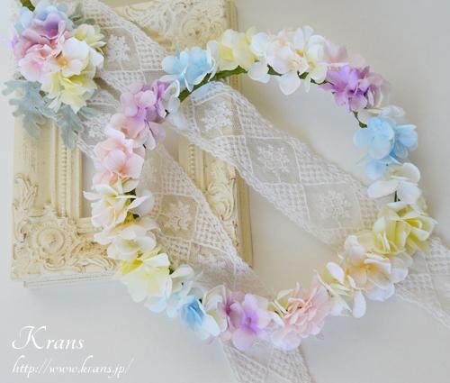 パステルカラー花冠結婚式4