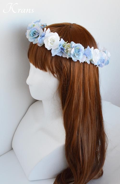 ブルー青い結婚式花冠5